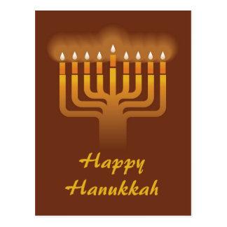 Cartão Postal Fundo do menorah de Hanukkah