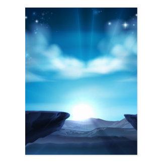 Cartão Postal Fundo do nascer do sol da montanha do penhasco