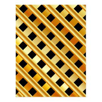 Cartão Postal Fundo do ouro