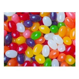 Cartão Postal Fundo dos Jellybeans - feijões de geléia da páscoa