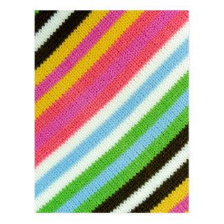 Cartão Postal Fundo feito malha colorido