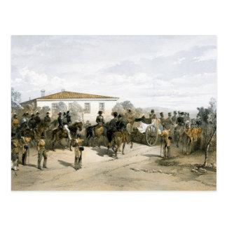 Cartão Postal Funeral do senhor Raglan do marechal de campo