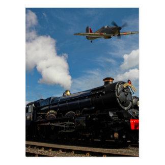 Cartão Postal Furacões e trem do vapor