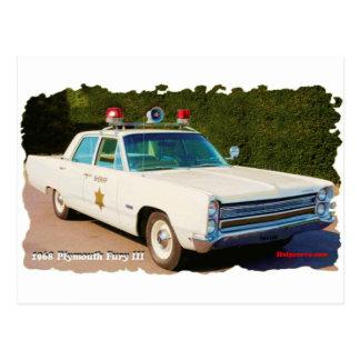 Cartão Postal Fúria 1968 de Plymouth III