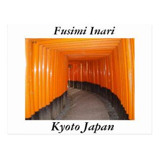 Cartão Postal Fusimi Inari em Kyoto Japão