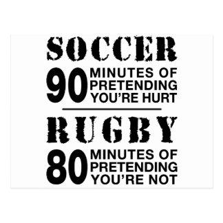 Cartão Postal Futebol contra Rubgy