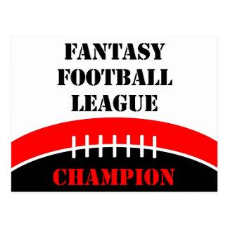 Cartão Postal Futebol da fantasia