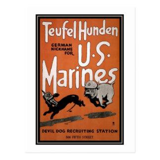 Cartão Postal Fuzileiros navais dos E.U. que recrutam o poster