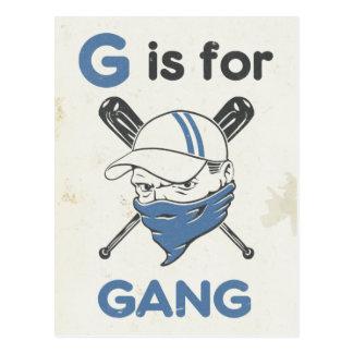 Cartão Postal G é para o grupo