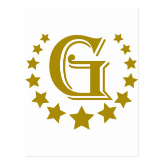 Cartão Postal G-Letra-Estrela-Coroa