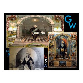 Cartão Postal G.W., George Washington, ø presidente dos EUA