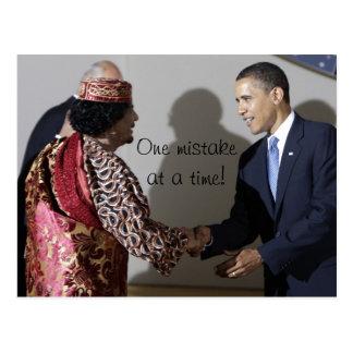Cartão Postal Gaddafi Gadhafi Obama um erro naquele tempo
