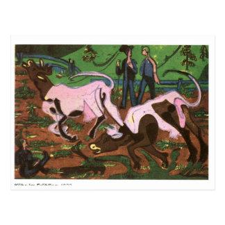 Cartão Postal Gado na primavera por Ernst Ludwig Kirchner