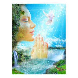 Cartão Postal Gaia - o espírito da terra viva