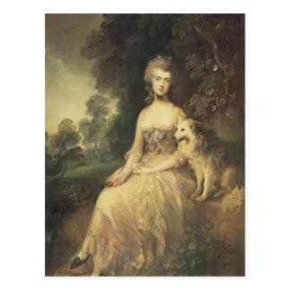 Cartão Postal Gainsborough-Sra. de Thomas. Mary Robinson