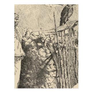 Cartão Postal Gaiola da águia de Zuni
