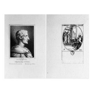 Cartão Postal Gaius Cornelius Tácito gravado por Julien