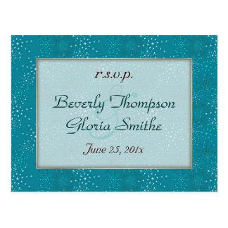 Cartão Postal Galáxia da cerceta que Wedding RSVP