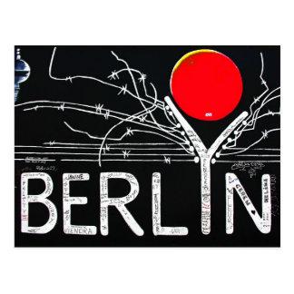 Cartão Postal Galeria da zona leste, muro de Berlim, arame