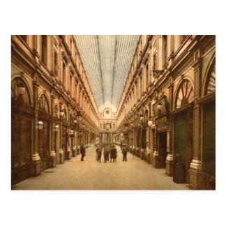 Cartão Postal Galeria do St. Hubert de Bruxelas Bélgica do