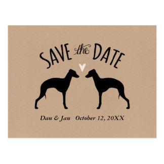Cartão Postal Galgos italianos que Wedding economias a data
