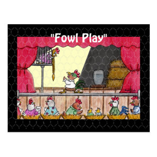 Cartão Postal Galinha Rapunzel do jogo da galinha