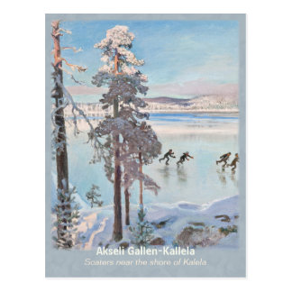 Cartão Postal Gallen-Kallela Kalela Scaters Luistelijat CC0812
