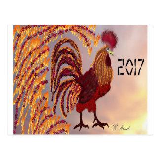 Cartão Postal Galo 2017