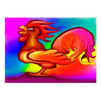 Cartão Postal Galo do fogo