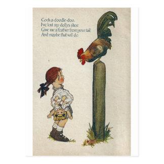 Cartão Postal Galo-um-doodle-doo