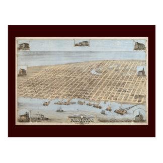 Cartão Postal Galveston panorâmico