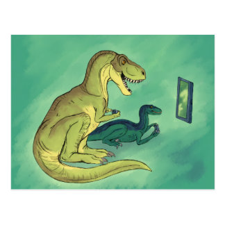 Cartão Postal Gamer-Saurus