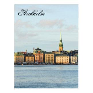 Cartão Postal Gamla Stan em Éstocolmo, suecia