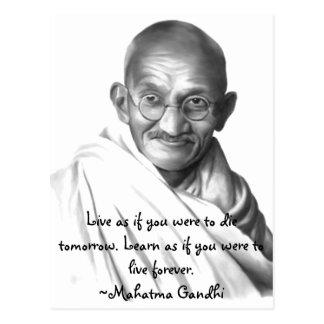 Cartão Postal Gandhi