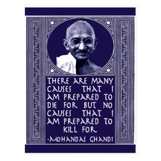 Cartão Postal Gandhi em causas
