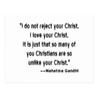 Cartão Postal Gandhi em cristãos