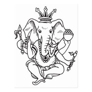 Cartão Postal Ganesha