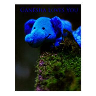 Cartão Postal Ganesha ama-o