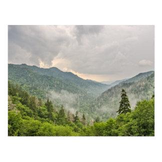 Cartão Postal Gap Newfound, parque nacional de Great Smoky