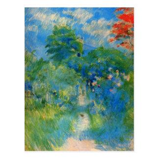 Cartão Postal Gardenpath em Mezy por Berthe Morisot