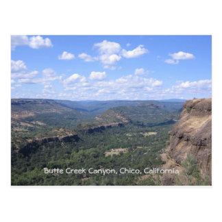 Cartão Postal Garganta da angra do montículo no Condado de Butte