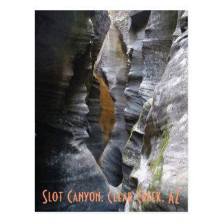 Cartão Postal Garganta do entalhe, angra clara, AZ
