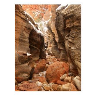 Cartão Postal Garganta do entalhe no parque nacional de Zion