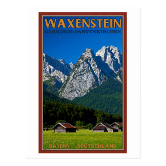 Cartão Postal Garmisch - Waxenstein