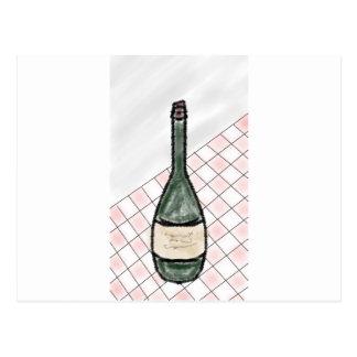 Cartão Postal Garrafa de vinho