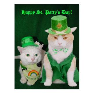 Cartão Postal Gatinhos de St Patrick