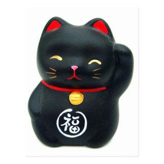 """Cartão Postal Gato afortunado do gato de Maneki Neko """"Beckoning"""""""