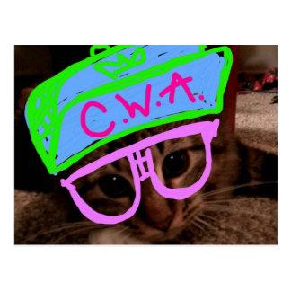 Cartão Postal Gato com atitude