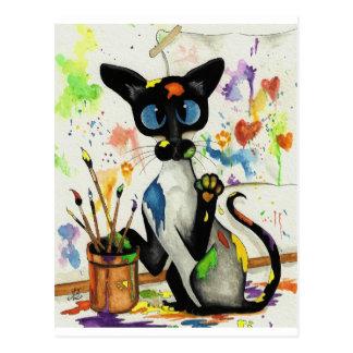 Cartão Postal Gato criativo do gatinho