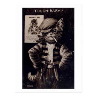 Cartão Postal Gato da fantasia, vintage resistente do bebê